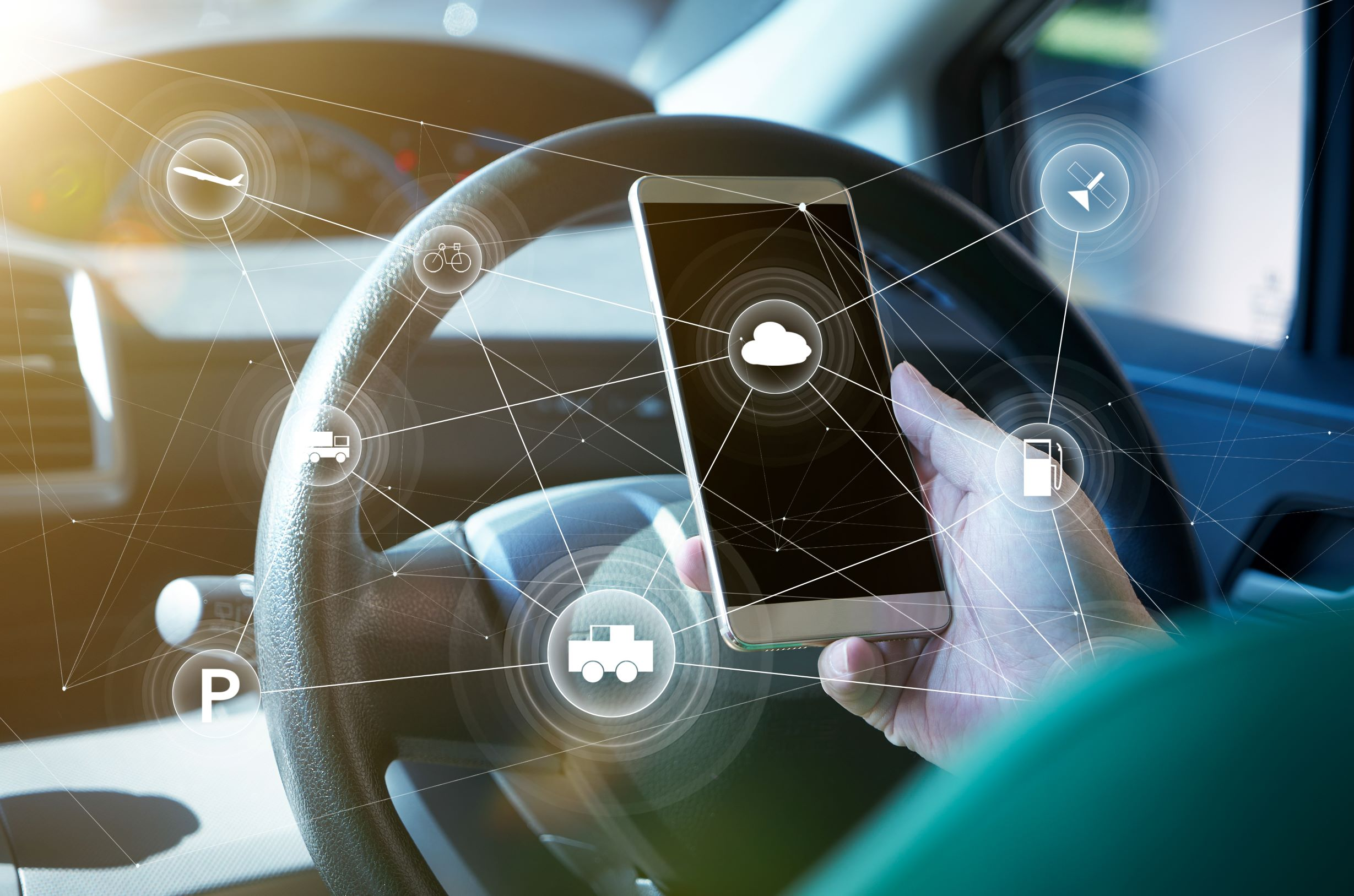 Smartphone im Connected Car