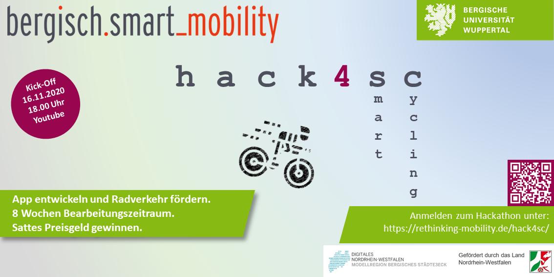 """Flyer Hackathon """"hack 4 smart cycling"""""""