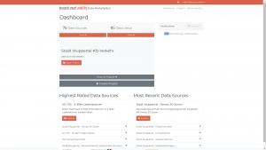 Dashboard des Datenmarktplatzes