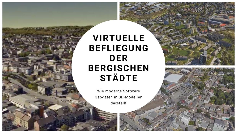 Titelbild Virtuelle Befliegungen der Bergischen Städte